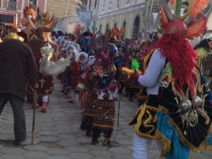 Children and carnival dancers get started in day 1 of the 4-day parade and festival.