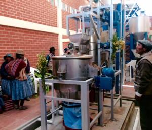 Newly functioning Otuyo organic quinoa processing plant.