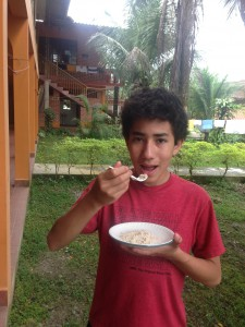 Quinoa pito - toasted and ground.  Yum!