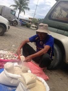 Roadside quinoa sales in Chapare.  $1.42 a pound.